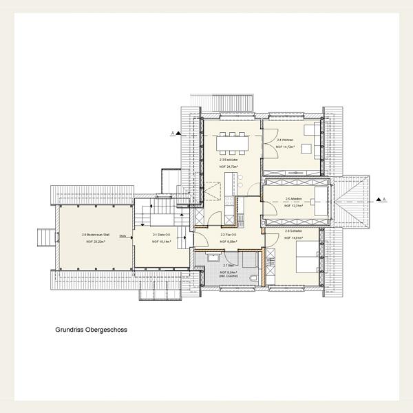 Bauen im bestand konzeptentwicklung architekt andreas for Zweifamilienhaus grundriss beispiele