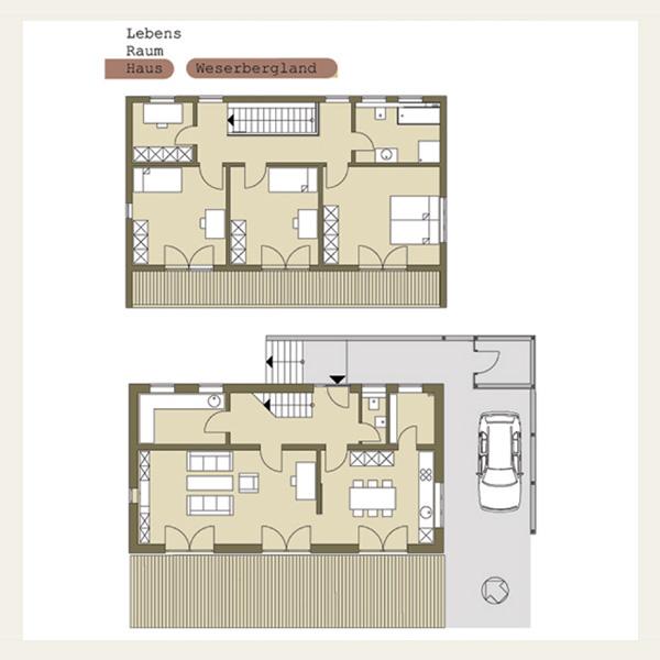 Lebensraumhaus 3 zweigeschossiges wohnhaus mit flachdach for Haus flachdach grundriss