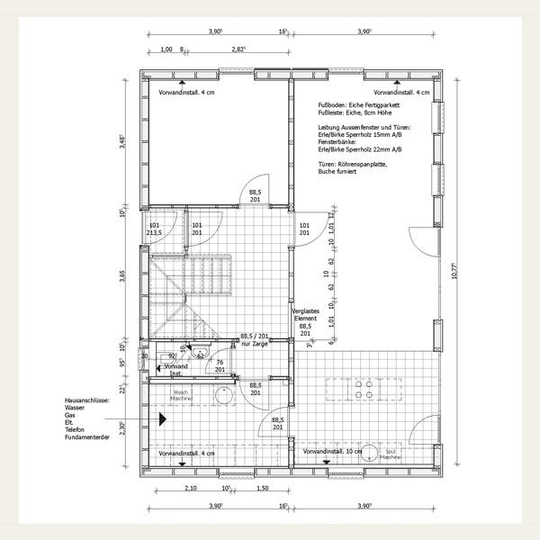 Holzrahmenbau grundriss detail  Neubau - Planen und Bauen - Architekt Andreas Rehmert