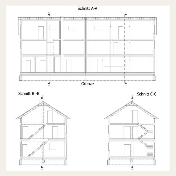 Holzrahmenbau grundriss detail  008 - Doppelhaushälfte in Holzrahmenbauweise - Architekt Andreas ...