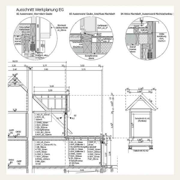 Holzrahmenbau grundriss detail  023 - Einfamilienhaus in Holzrahmenbauweise - Architekt Andreas ...