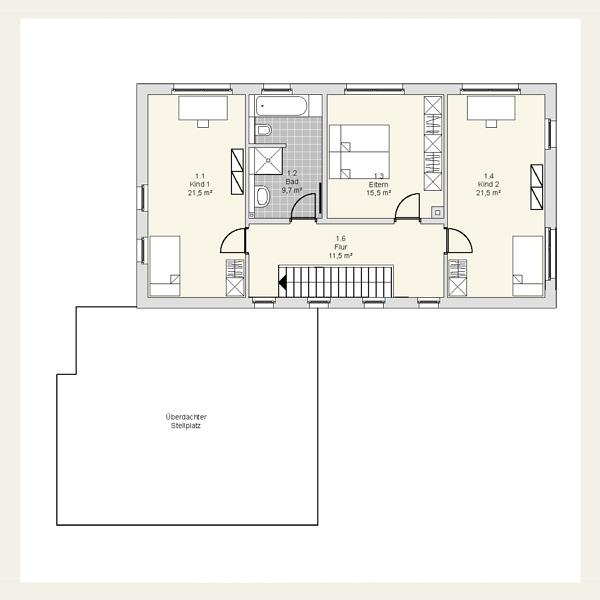 052 einfamilienhaus in massivbauweise architekt for Grundriss neubau einfamilienhaus